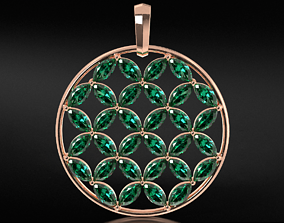 Pendant with awnings flower of life 654 3D printable model