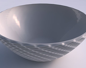 3D printable model Bowl wide with grid piramides 2