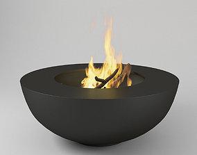 3D Fire Pot Bonfire
