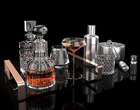 Sebastian decanter whiskey set 3D