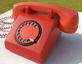 3D Tele- Old Retro Telephone