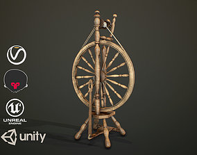 Spinning Wheel 3D asset