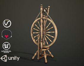 Spinning Wheel 3D asset