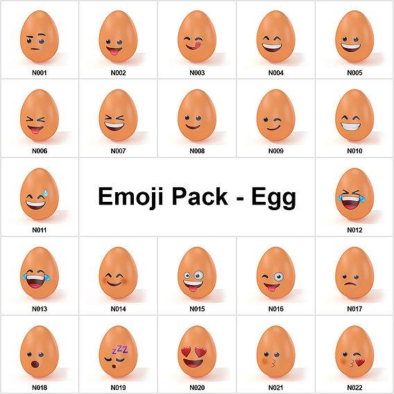 Emoji Pack - Egg