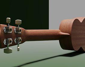 ukulele 3D model realtime Ukulele
