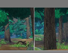 forest animation sence 3D model
