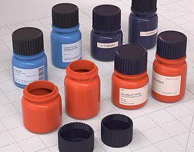 Laboratory Diagnostic Bottles 3D PBR