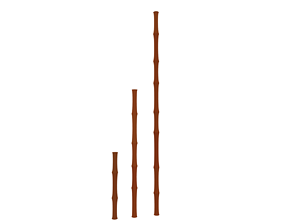 whip Bamboo 3D model
