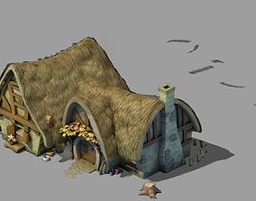 Game Dwarf - Cottage 03 3D model