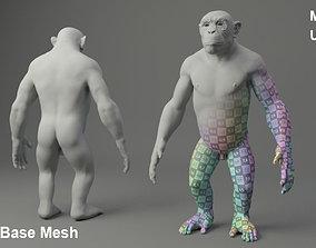 Chimp Base Mesh 3D model
