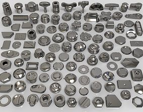 3D bolts and knobs-part-7 -106 pieces