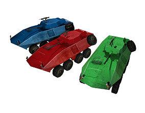 3D asset Fun Military APC combat vehicles