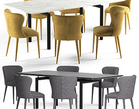 Globewest Amara Table and Eloise Chair 3D
