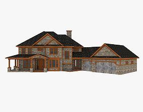 american 3D model American Woodframe House
