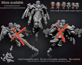 3D printable model Battle Angel number 3 28mm compatible 1