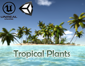 Tropical Plants For Game Engines UE4 asset and animated 2