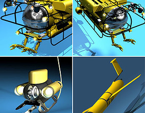 Submarine collection 3D