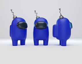 Among Us Antenna Character 3D model