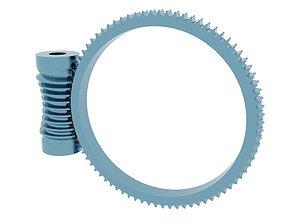 tool 3D print model wormgear drive 80 to 01