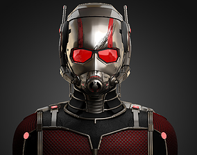 3D asset low-poly Ant-Man Marvel 2015