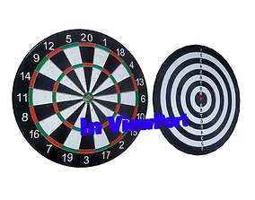 DartBoard Dart - Game Ready - VR AR 3D asset