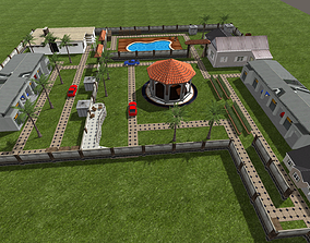 game-ready Farm house 3d Environment Unity