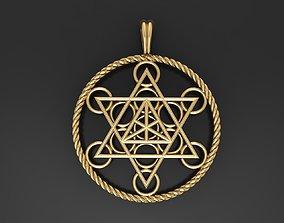 3D print model Star tetrahedron metatrons cube pendant