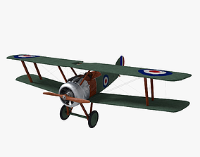 3D model Sopwith Camel Biplane