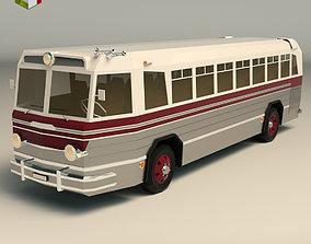 3D model Low Poly Vintage Bus 04