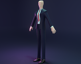 3D model Low-poly Hitman Character