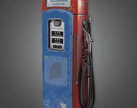 3D asset Old Gas Pump Antiques - PBR Game Ready