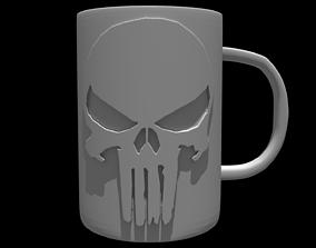 3D The Punisher Mug stl printable model