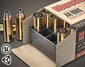 Magnum cartridges ammunition pack - 3D VR game-ready 3
