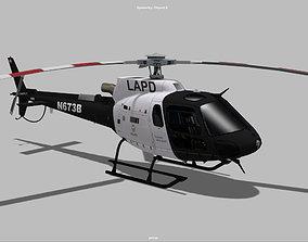 AS350 eurocopter LAPD 3D model