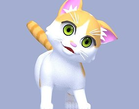 3D asset rigged rigged Cartoon Cat