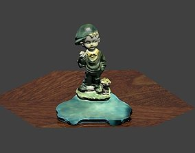 Boy dog adornment souvenir 3D print model