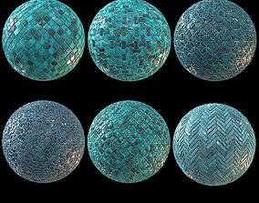 3D model 6 Teal Tile PBR Material Vol2-Sbsar