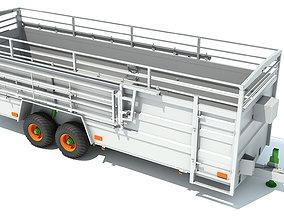 Animal Transport Trailer 3D model