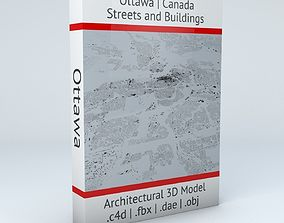 3D Ottawa Streets and Buildings