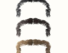 Mustache Low Poly 3 3D model