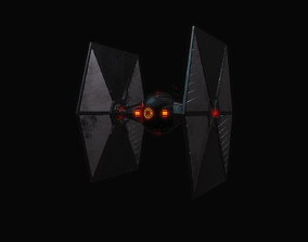 Black Tie Fighter 3D model light