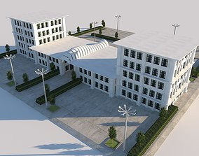 3D model State Municipal Design Building