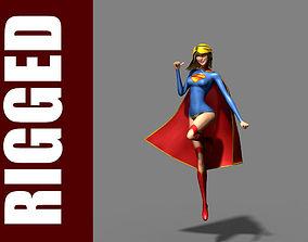 Supergirl Rig 3D model