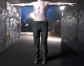 3D model Old dirty trousers