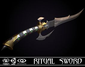 VR / AR ready Ritual Sword - game ready model