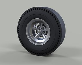 3D model Rear wheel of old school dragster