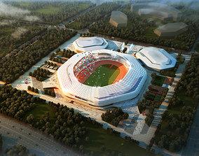 3D model Grand Stadium 001