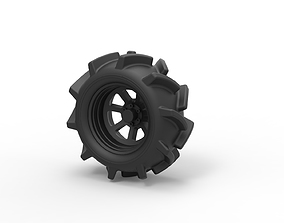 Diecast Offroad wheel 15 3D printable model