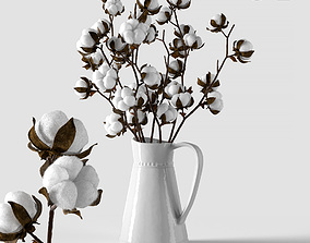 Cotton in a jug 3D