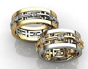 fashion-and-beauty 3D printable model Diamond Wedding Rings